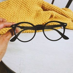 Vintage Round Pantos Clear Lens Glasses